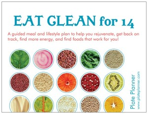 Eat Clean Postcard Front
